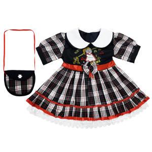 ست پیراهن و کیف دخترانه کد DC5