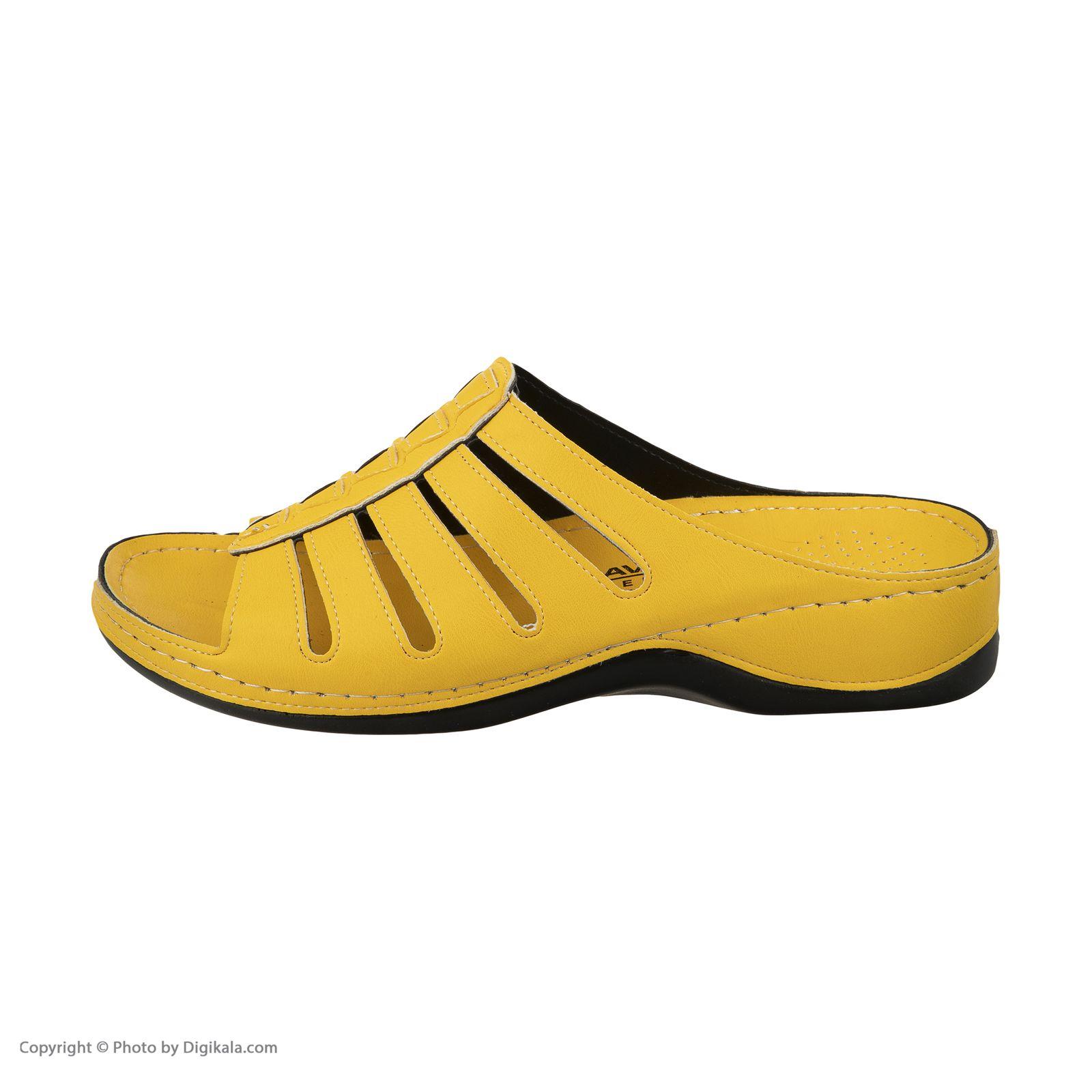 دمپایی زنانه آویده کد av-0304216 رنگ زرد -  - 6