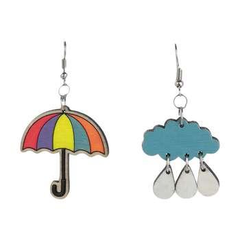 گوشواره زنانه مدل چتر و باران کد 012