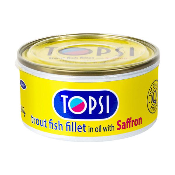 کنسرو ماهی قزل زعفرانی تاپسی - 180 گرم