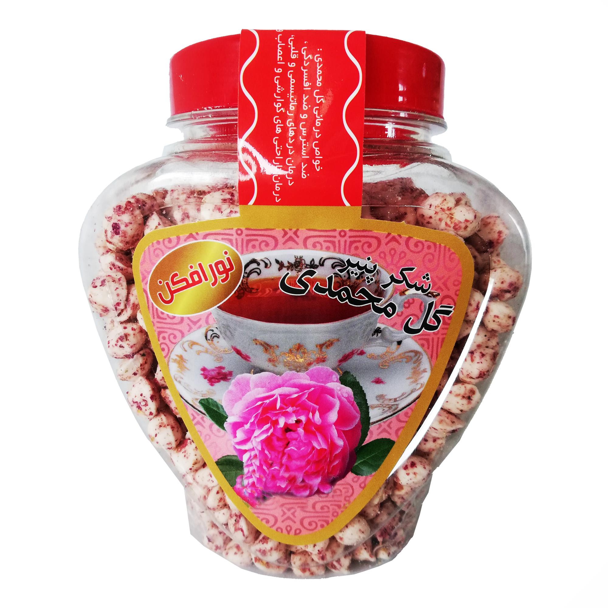 شکر پنیر رژیمی نورافکن با طعم گل محمدی طبیعی - 400 گرم