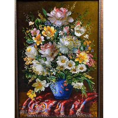 تابلو فرش دستبافت طرح گل کد ۳۴۸۰۶۱۱
