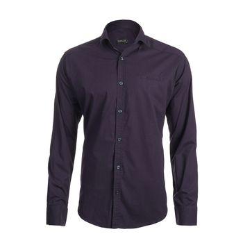 پیراهن آستین بلند مردانه ناوالس مدل POPLIN-NY