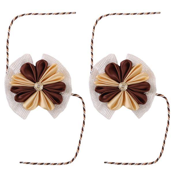 پرده جمع کن طرح گل بسته 2 عددی