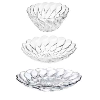 سرویس پذیرایی 3 پارچه شیشه و بلور اصفهان مدل فلورانس