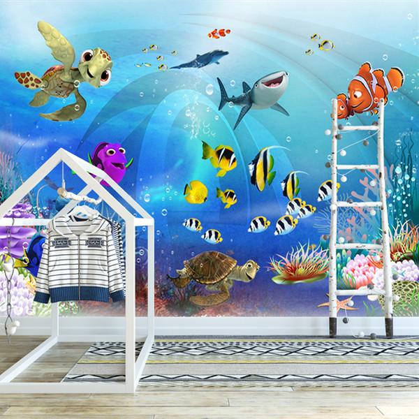 پوستر دیواری اتاق کودک طرح آکواریوم کد 15659712