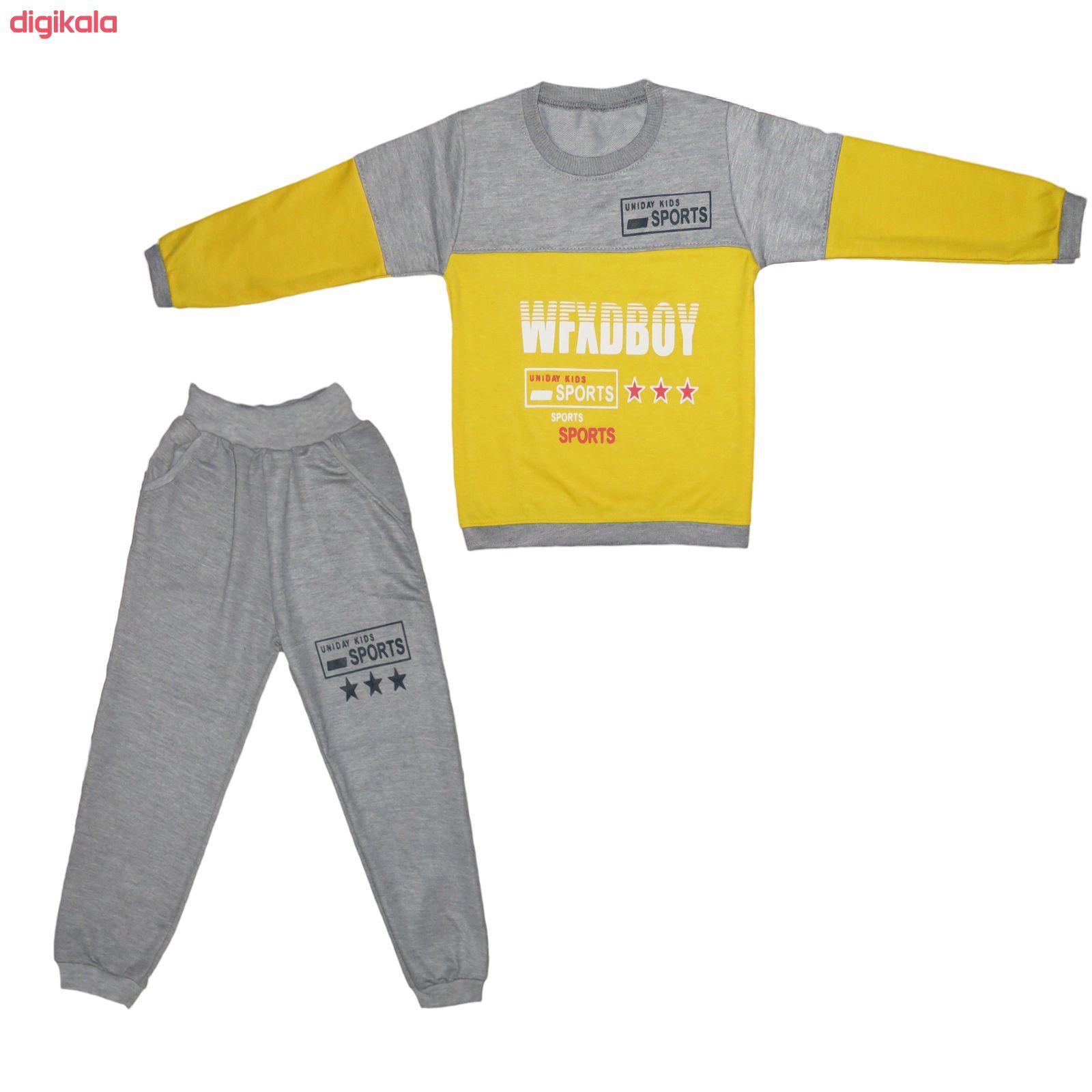 ست تی شرت و شلوار پسرانه کد 133 main 1 1