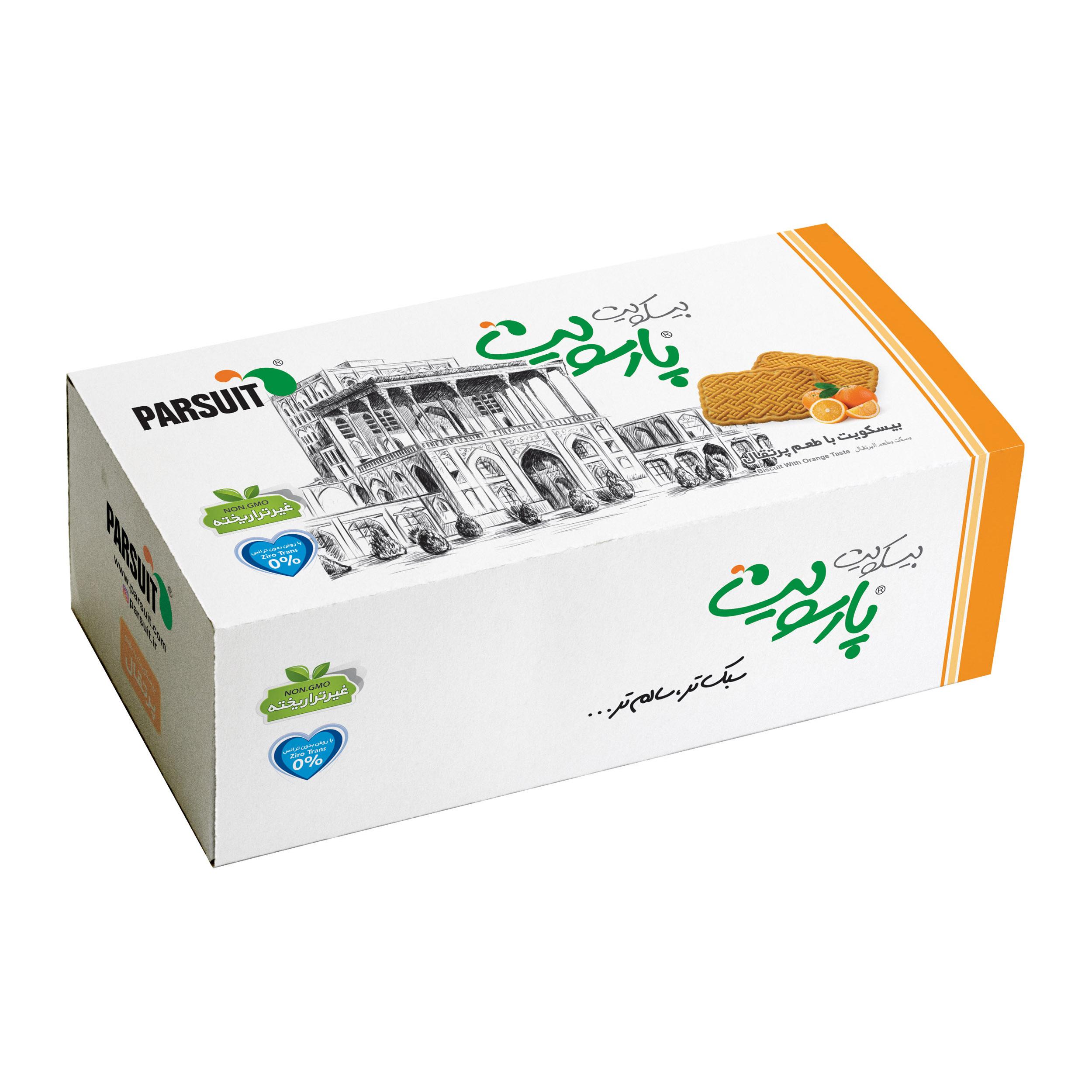بیسکویت با طعم پرتقال پارسویت - 450 گرم