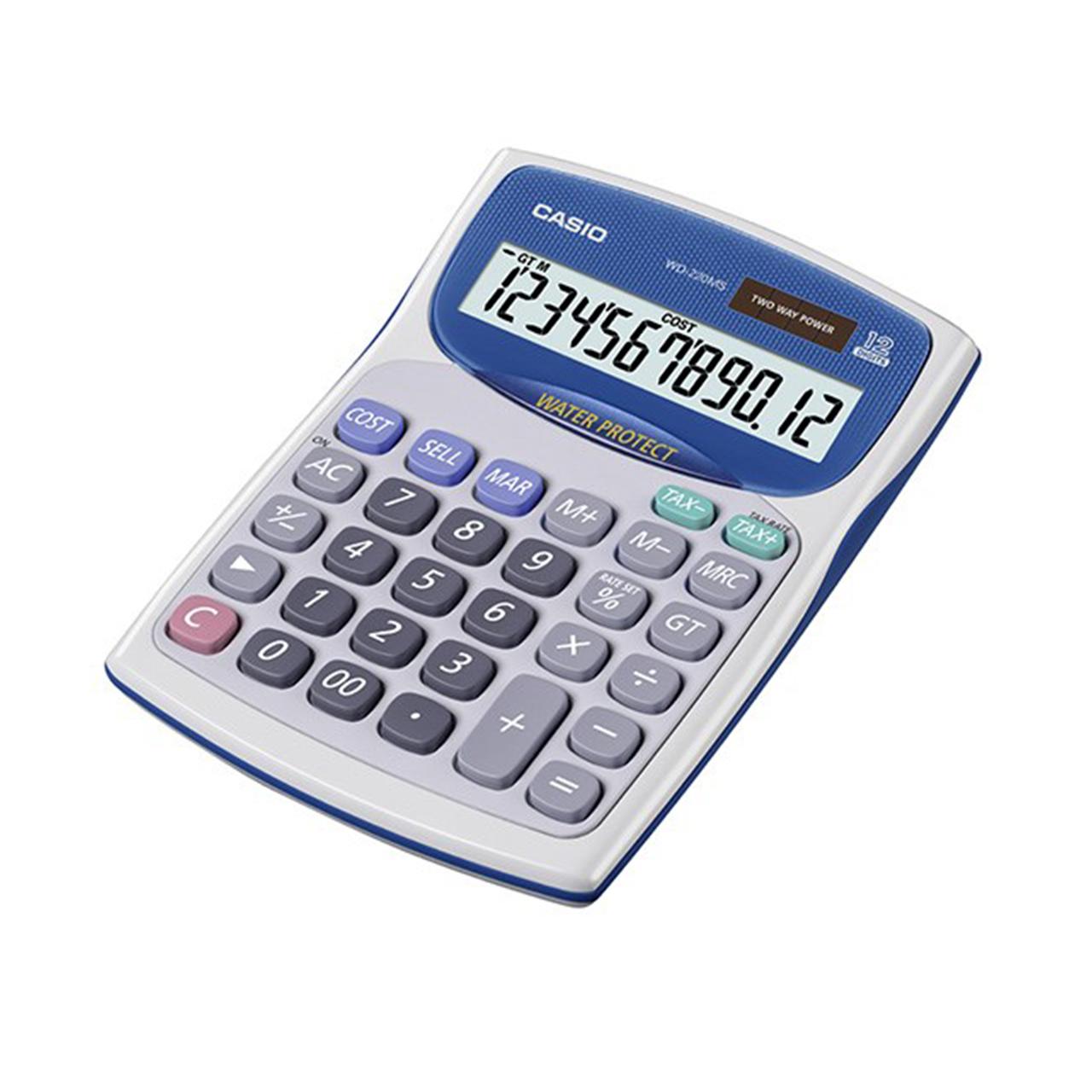 قیمت                      ماشین حساب کاسیو مدل WD-220MS