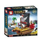 ساختنی اس وای مدل کشتی دزدان دریایی کد 01557