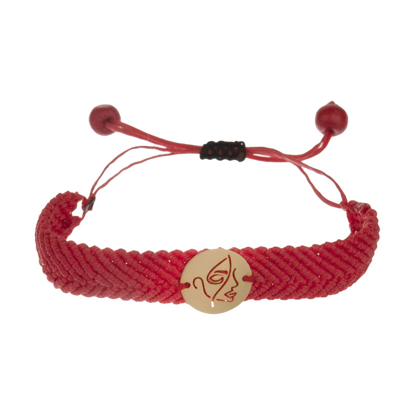 دستبند طلا 18 عیار زنانه آبستره مدل D04 -  - 2