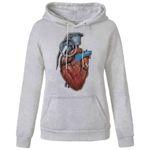 هودی زنانه مدل قلب کد A307