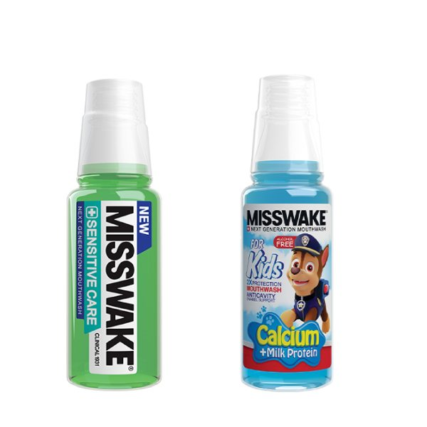 دهان شویه میسویک مدل Sensitive Care حجم 200 میلی لیتر به همراه دهان شویه کودک میسویک مدل Chase حجم 200 میلی لیتر