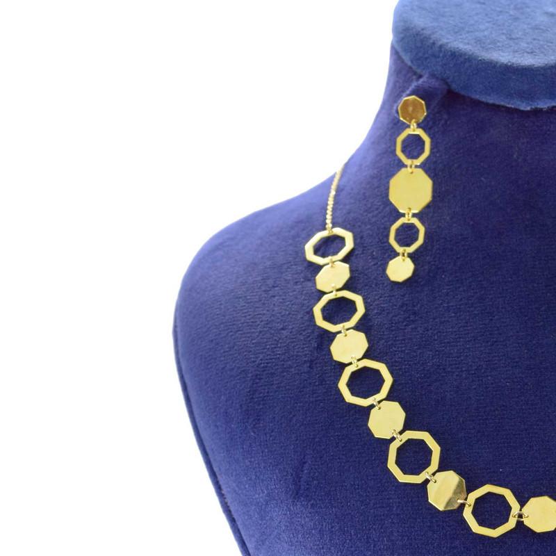 نیم ست طلا 18 عیار زنانه کانیار گالری مدل HFS5