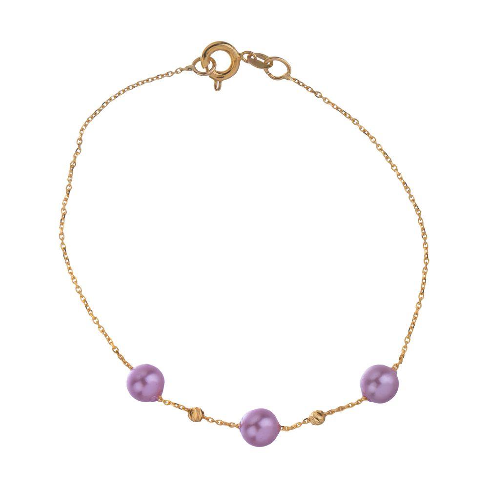 دستبند طلا 18 عیار زنانه مایا ماهک مدل ZMB1052