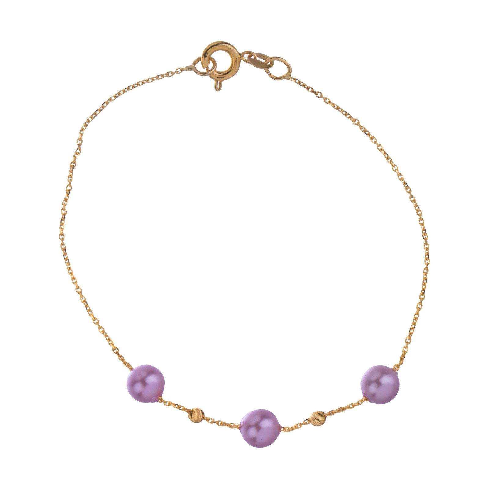 دستبند طلا 18 عیار زنانه مایا ماهک مدل ZMB1052 -  - 2