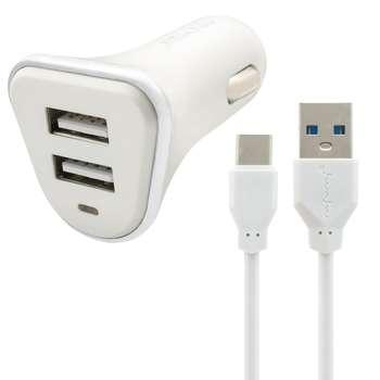 شارژر فندکی نافومی مدل C05 به همراه کابل تبدیل USB-C