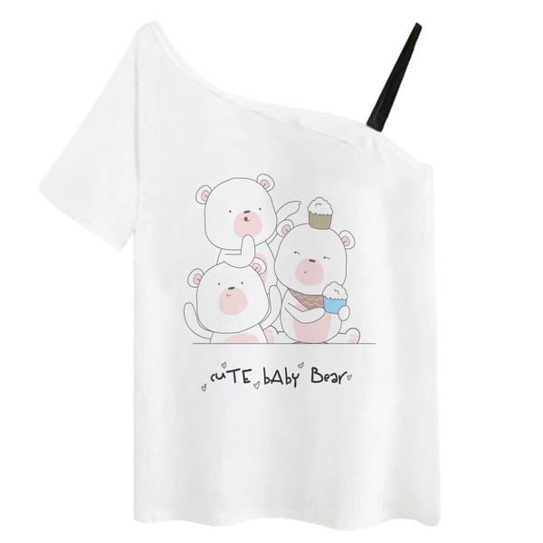 تی شرت زنانه مدل خرس و کاپ کیک کد f1386w