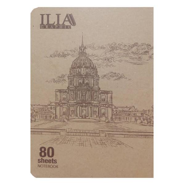 دفتر نقاشی 80 برگ ایلیا گرافیک کد 804n