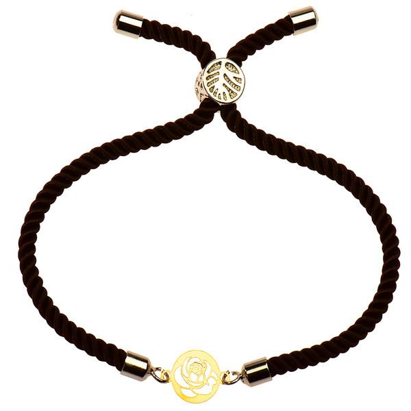 دستبند طلا 18 عیار دخترانه کرابو طرح گل رز مدل Krd1105