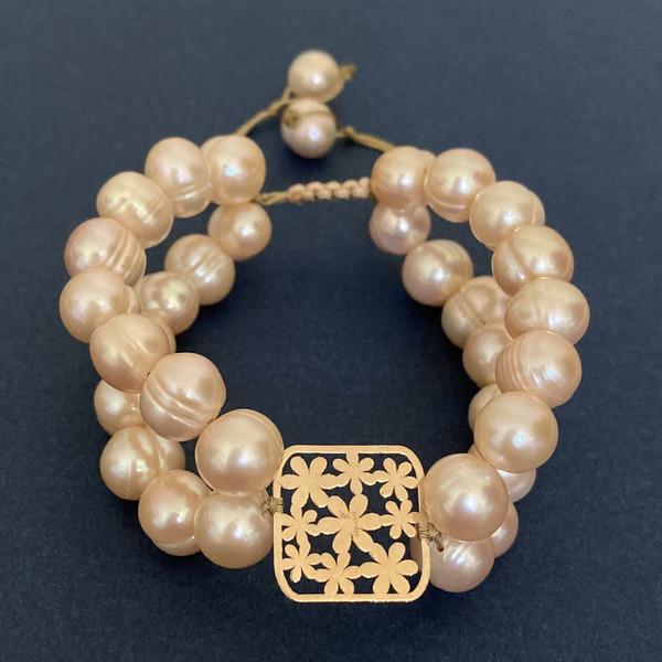 دستبند طلا 18 عیار زنانه الماسین آذر مدل GOL05
