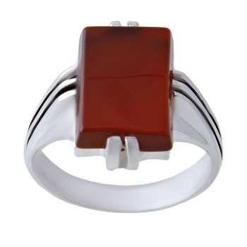 انگشتر نقره مردانه بازرگانی میلادی کد AM_296