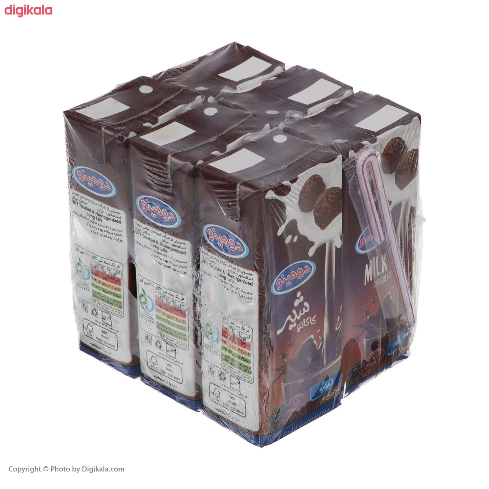 شیر کاکائو دومینو - 0.2 لیتر بسته 6 عددی main 1 5