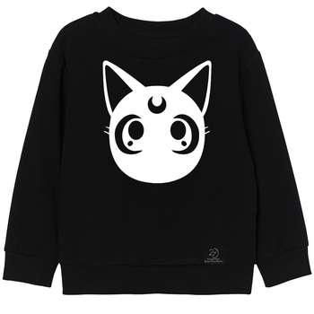 سویشرت دخترانه 27 مدل CAT کد V03 رنگ مشکی
