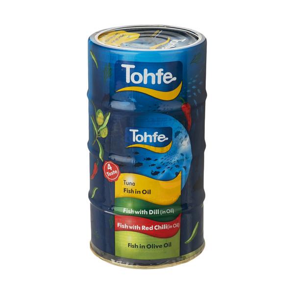 کنسرو ماهی تون 4 طعم تحفه - 180 گرم مجموعه 4 عددی