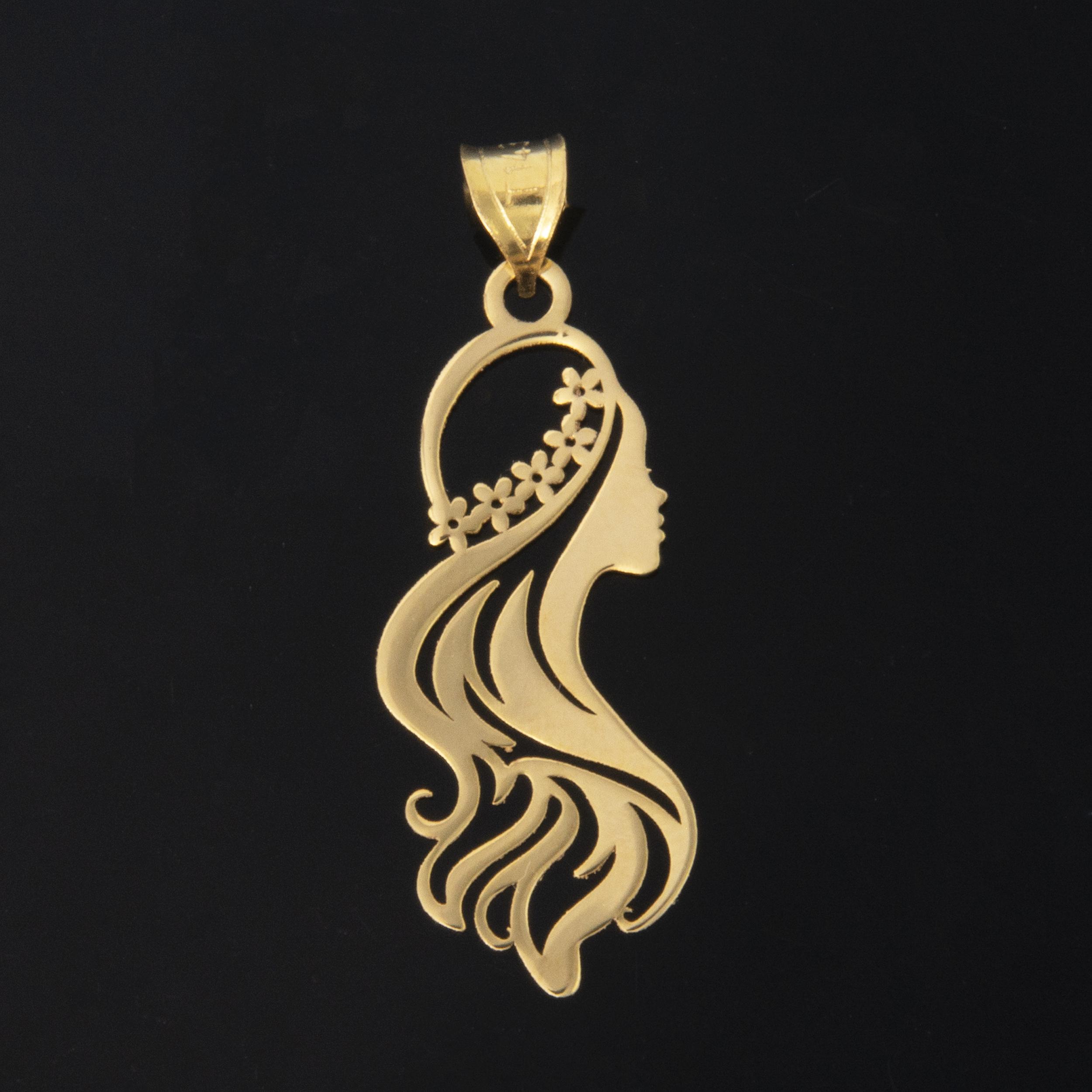 آویز گردنبند طلا 18 عیار زنانه کد 6752