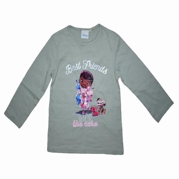 تی شرت آستین بلند دخترانه دیزنی مدل dis001
