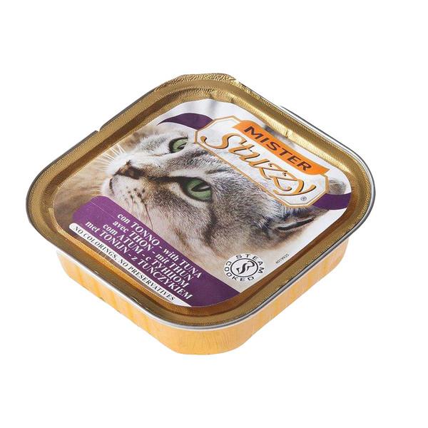 غذای کنسرو گربه استوزی مدل con tonno وزن 100 گرم