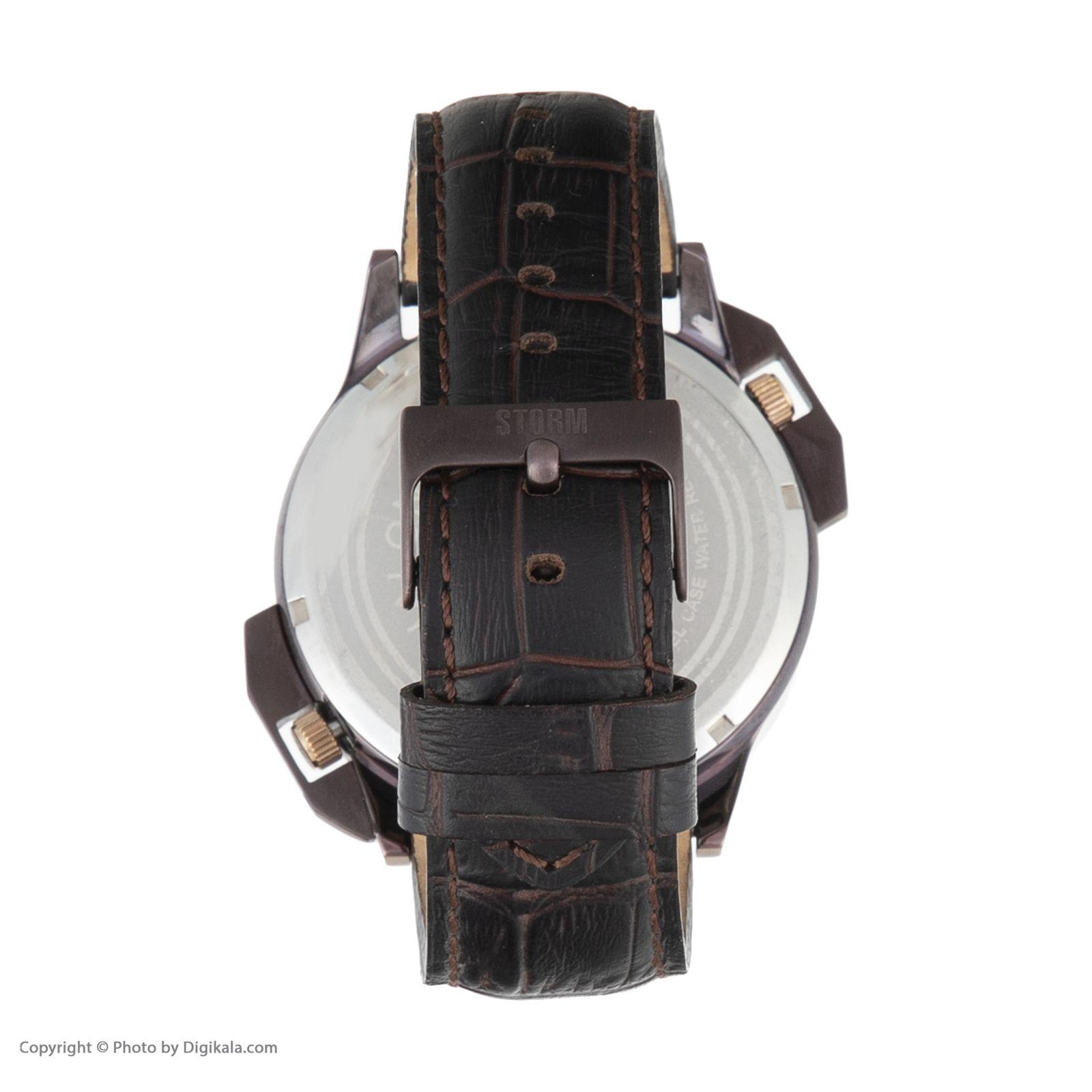 ساعت مچی عقربه ای مردانه استورم مدل ST 47147-BR -  - 5
