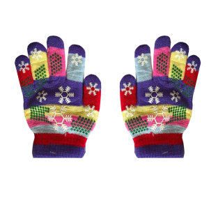 دستکش بافتنی بچگانه طرح دانه برف کد 5-7