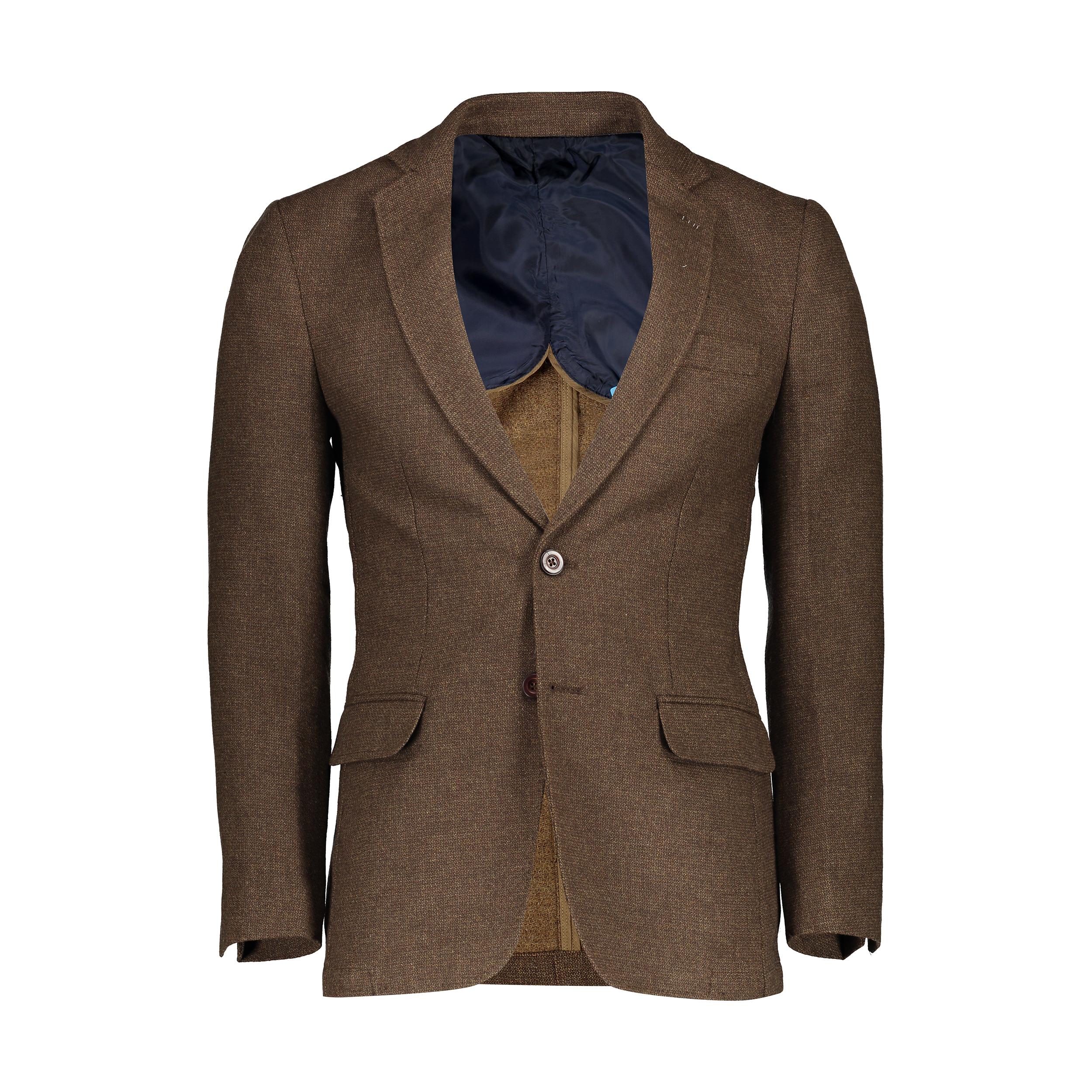 کت تک مردانه ادورا مدل 0215058 رنگ قهوه ای