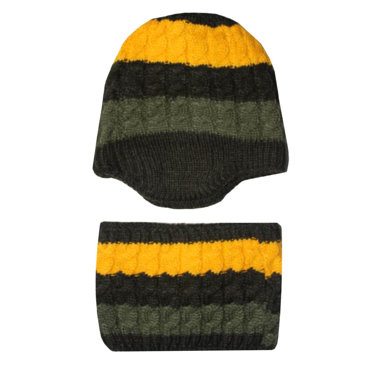 ست کلاه و شال گردن بافتنی مدل poro4