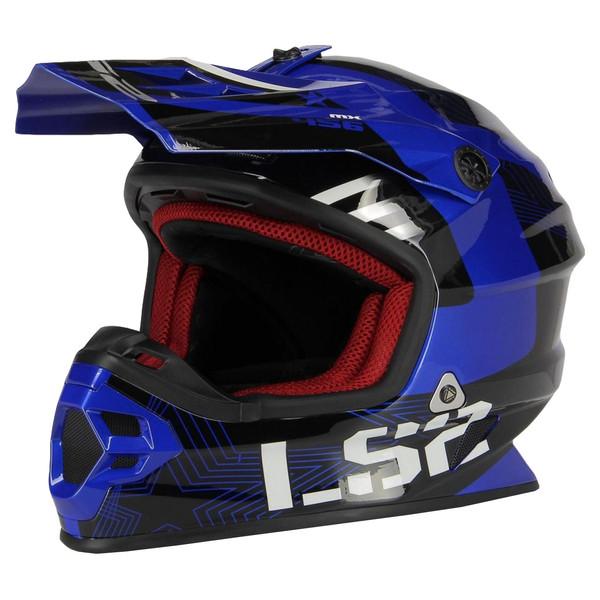 کلاه کاسکت ال اس تو مدل MX104-BLU
