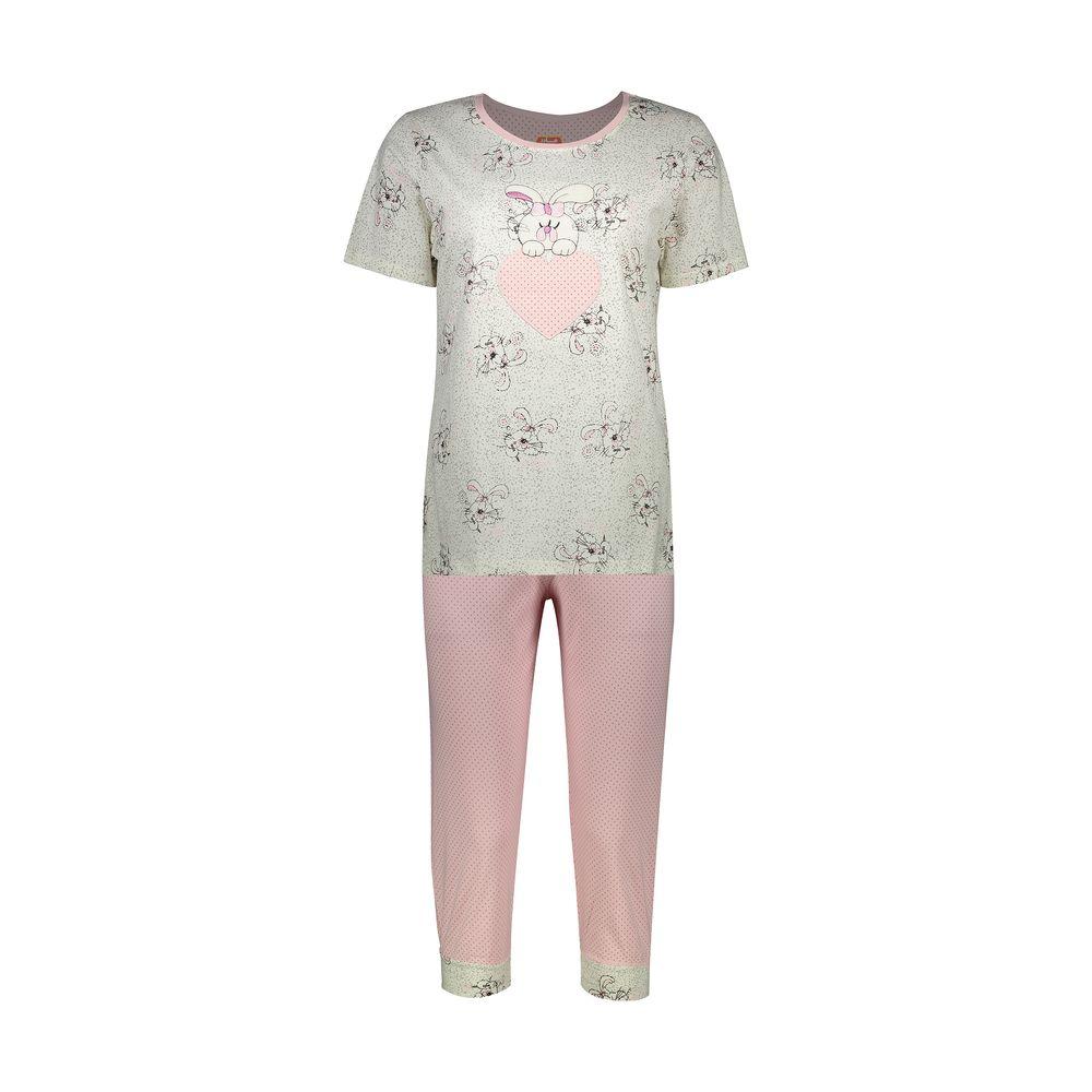 ست تی شرت و شلوارک راحتی زنانه مادر مدل 2041105-84