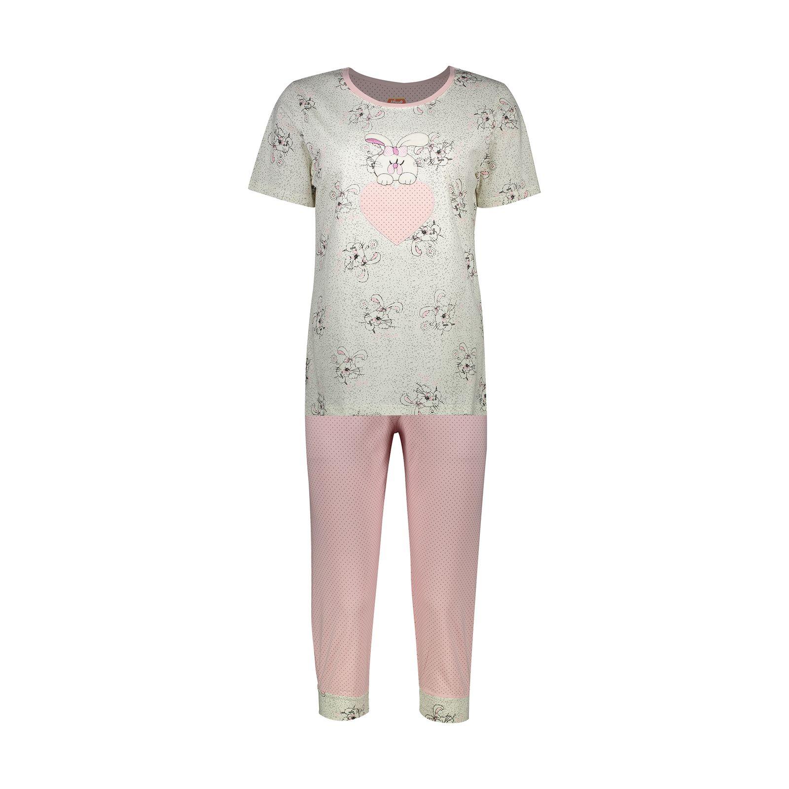 ست تی شرت و شلوارک راحتی زنانه مادر مدل 2041105-84 -  - 2