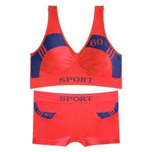 ست نیم تنه و شورت ورزشی زنانه کد 03-88831 رنگ نارنجی