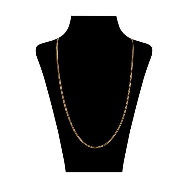 زنجیر طلا 18 عیار زنانه مایا ماهک مدل MM1075