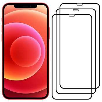 محافظ صفحه نمایش مدل FCG مناسب برای گوشی موبایل اپل iPhone 12 بسته سه عددی