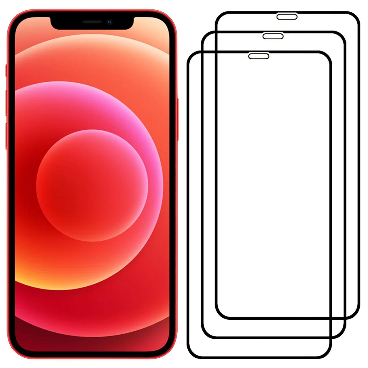 محافظ صفحه نمایش مدل FCG مناسب برای گوشی موبایل اپل iPhone 12 mini بسته سه عددی