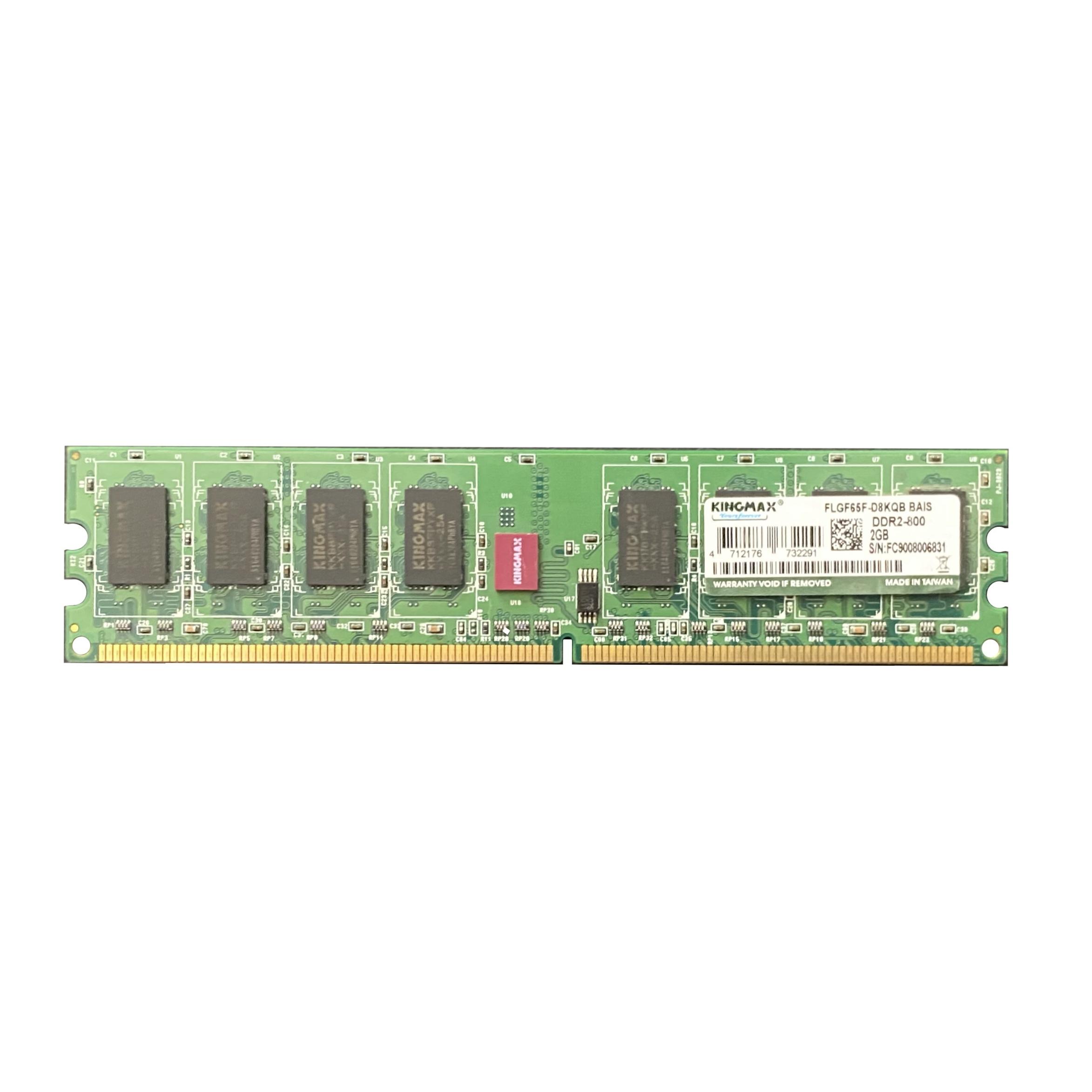 رم دسکتاپ DDR2 تک کاناله 800 مگاهرتز CL6کینگ مکس مدل kvrFLG  ظرفیت 2 گیگابایت