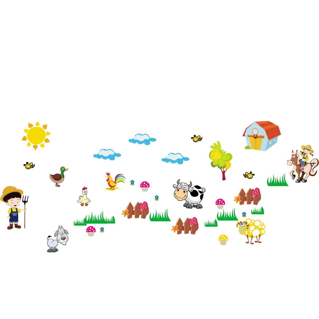 استیکر چوبی جیک جیک مدل مزرعه حیوانات