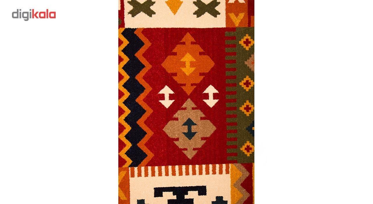 فرش ماشینی ساوین طرح کوکب کد FSM52 زمینه قرمز main 1 2