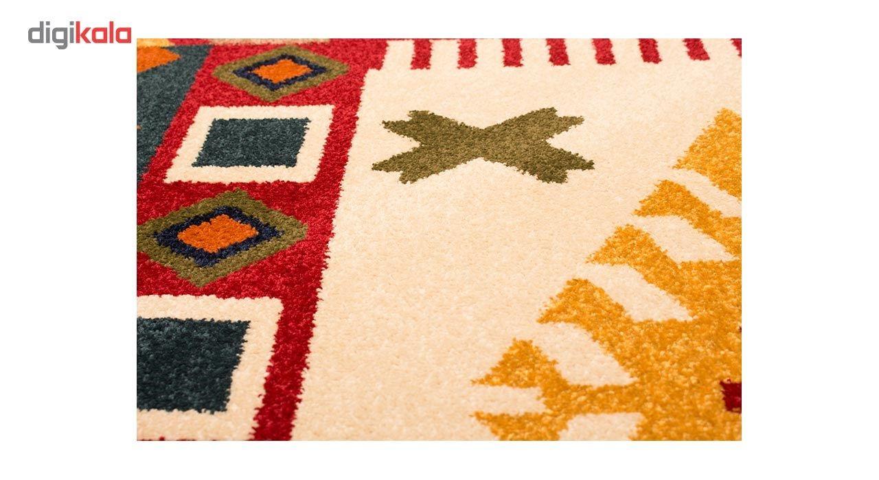 فرش ماشینی ساوین طرح کوکب کد FSM52 زمینه قرمز main 1 3