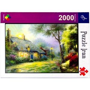 پازل 2000 تکه پازل ایران مدل Moonlight Cottage