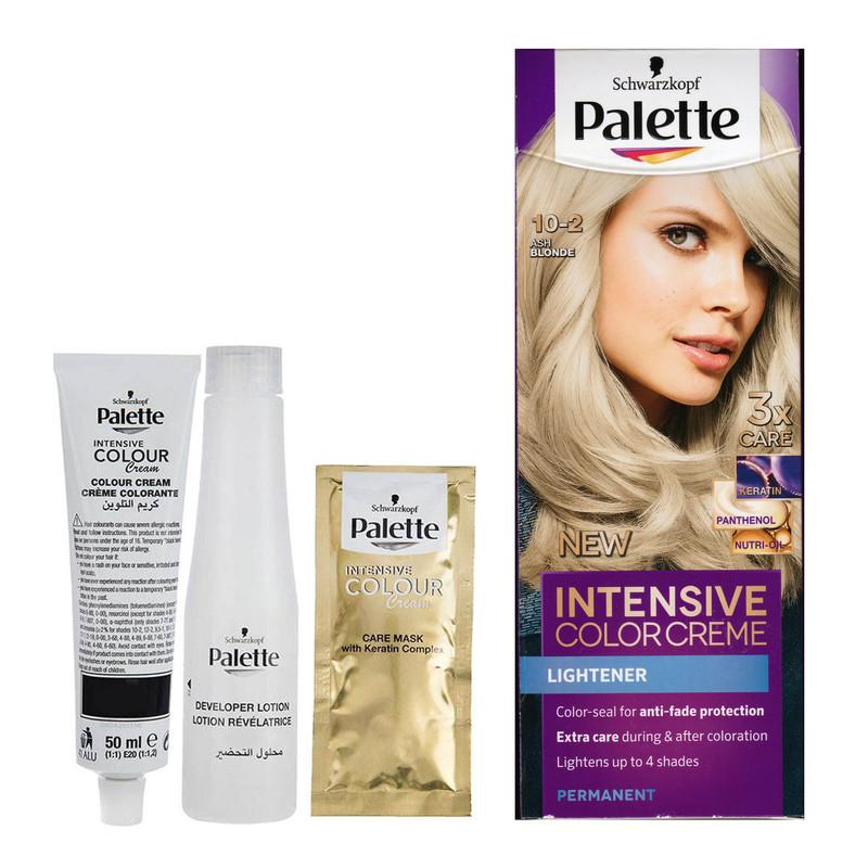 کیت رنگ مو پلت سری Intensive شماره 2-10 حجم ۵۰ میلی لیتر رنگ نقره ای خاکستری
