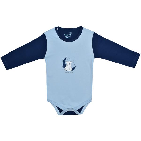بادی آستین بلند نوزادی بی بی وان مدل خرس قطبی کد 1